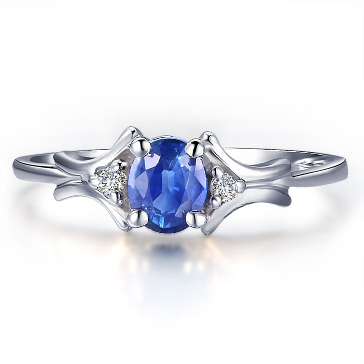beautiful sapphire and engagement ring on 10k