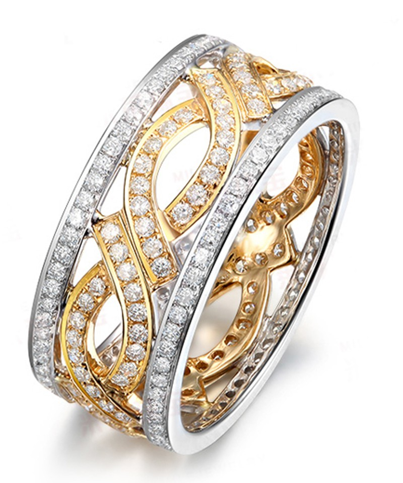 size gold bands two for double men accent to tone women wedding layered band