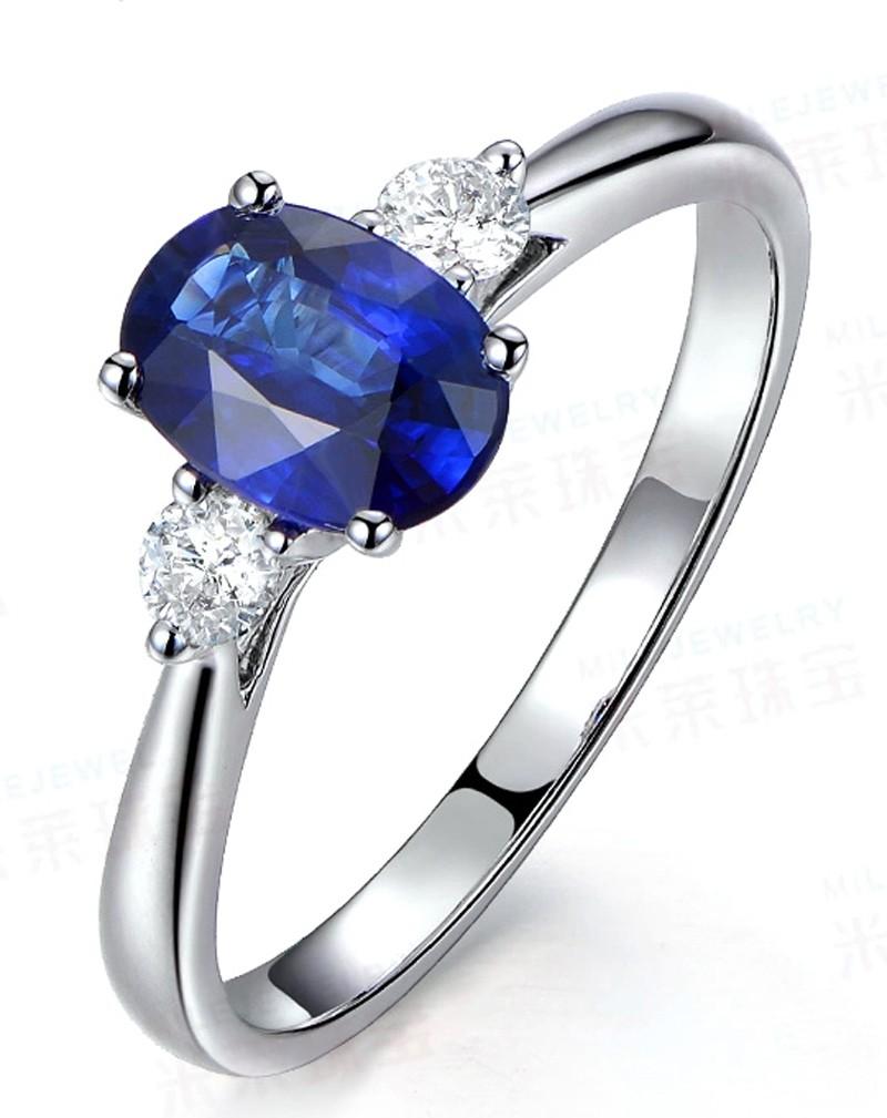 trilogy half carat oval cut sapphire and round diamond. Black Bedroom Furniture Sets. Home Design Ideas