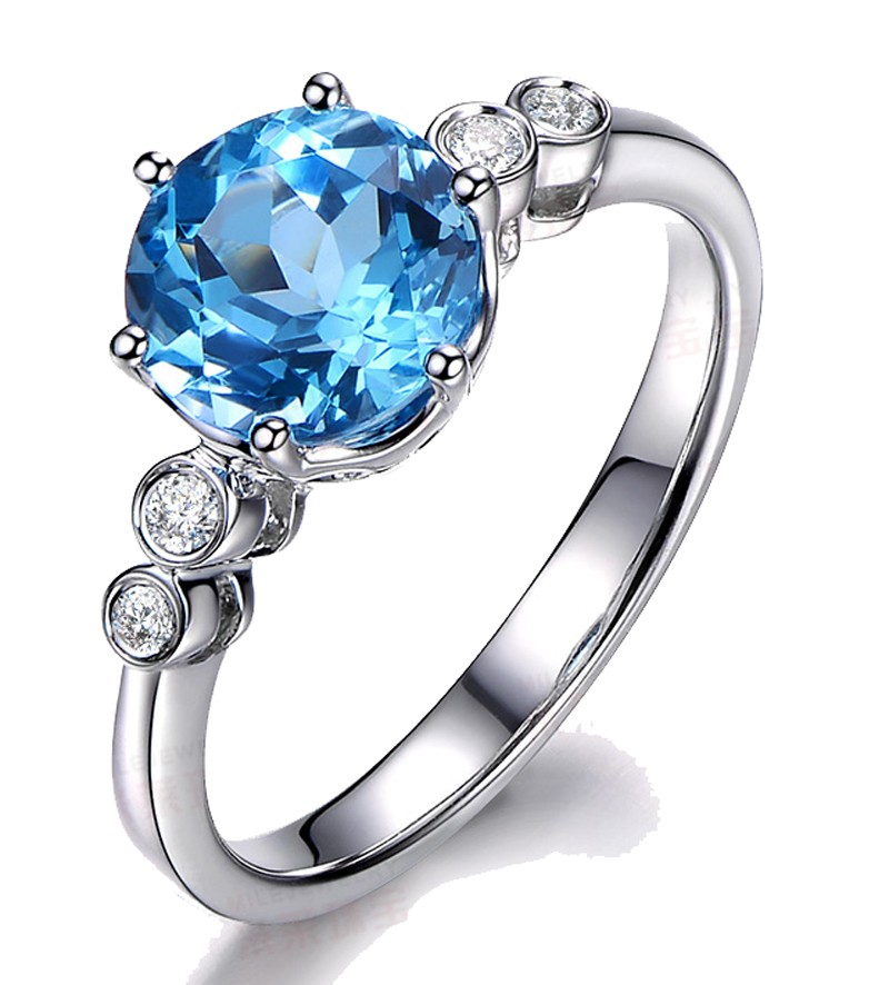 topaz yellow p blue gold rings ring