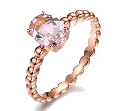 1.50 Carat Solitaire Morganite Gemstone Engagement Ring in Rose Gold