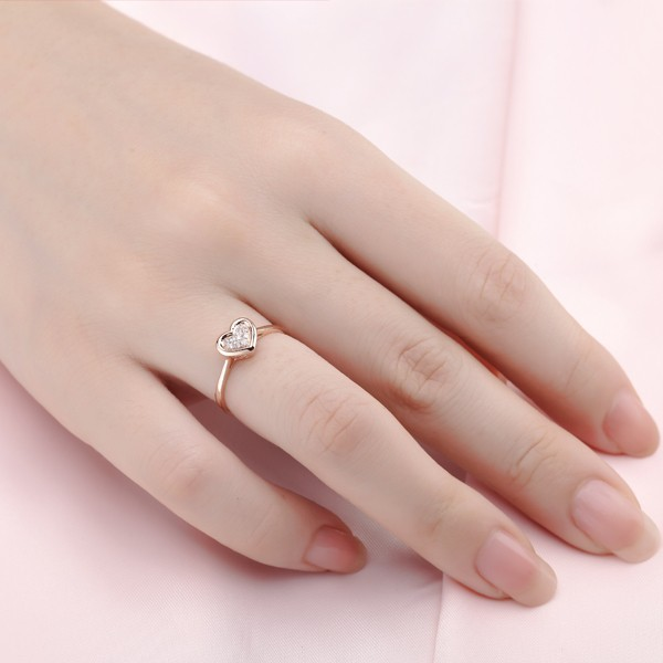Unique Rose Gold Engagement Rings Cheap