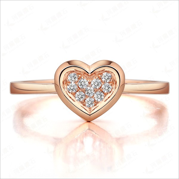Unique Engagement Ring on 9ct Rose Gold JeenJewels