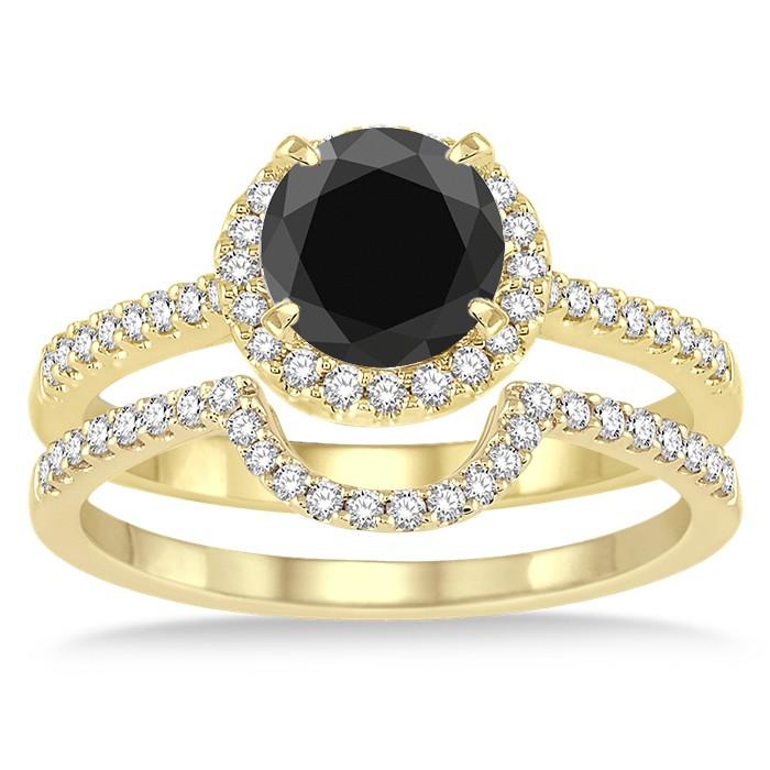Modern wedding rings newlyweds Black diamond engagement rings