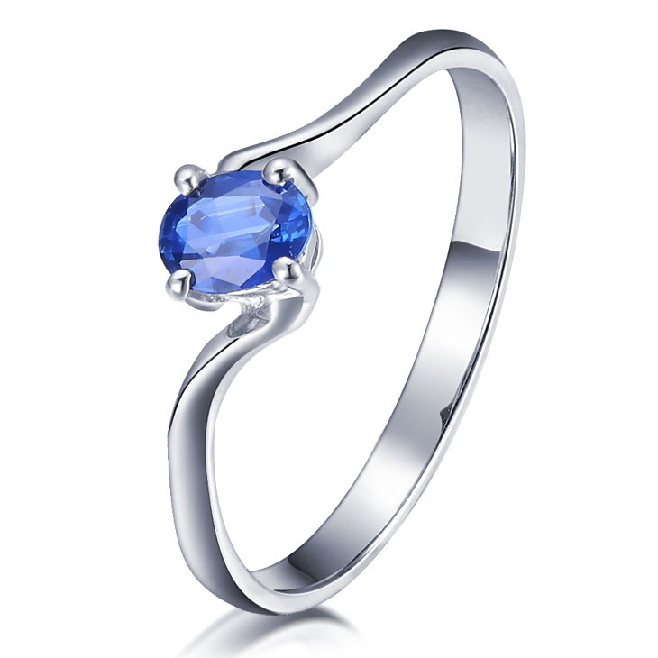 engagement sapphire silver cut pin white round attractive sterling cheap ring