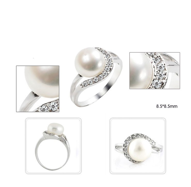 sterling real with cz engagement cubic pearls crowning pearl zirconia glory ring and image wedding silver rings womens bridal jewellery set