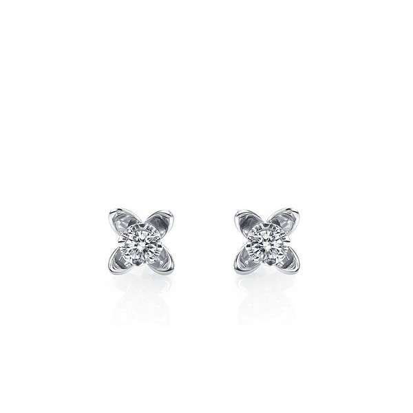 Stud White Gold Earrings