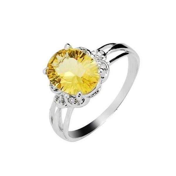 150 carat citrine engagement ring on silver jeenjewels