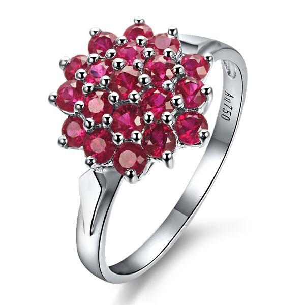 ruby engagement ring on 9ct white gold jeenjewels