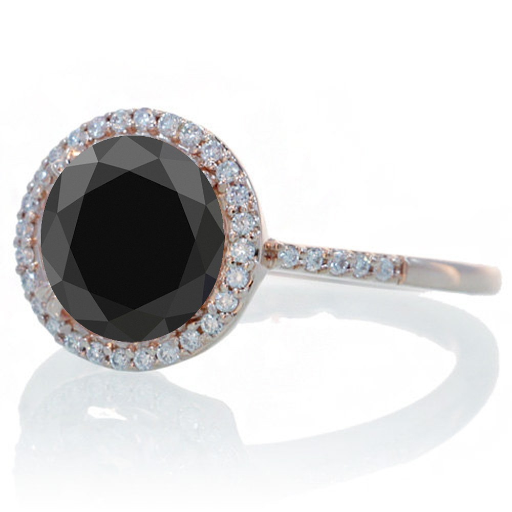 Black Gold Diamond Wedding Rings