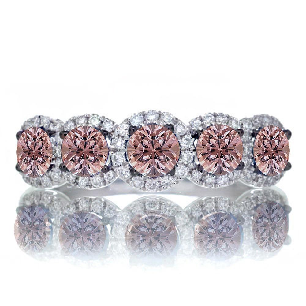 celebrity rose gold engagement rings morganite wedding ring set Celebrity rose gold engagement rings