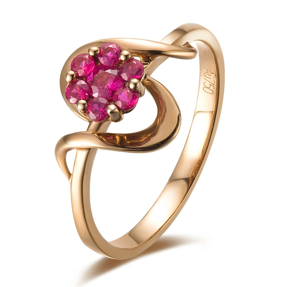 Ruby Engagement Ring On 18k Rose Gold