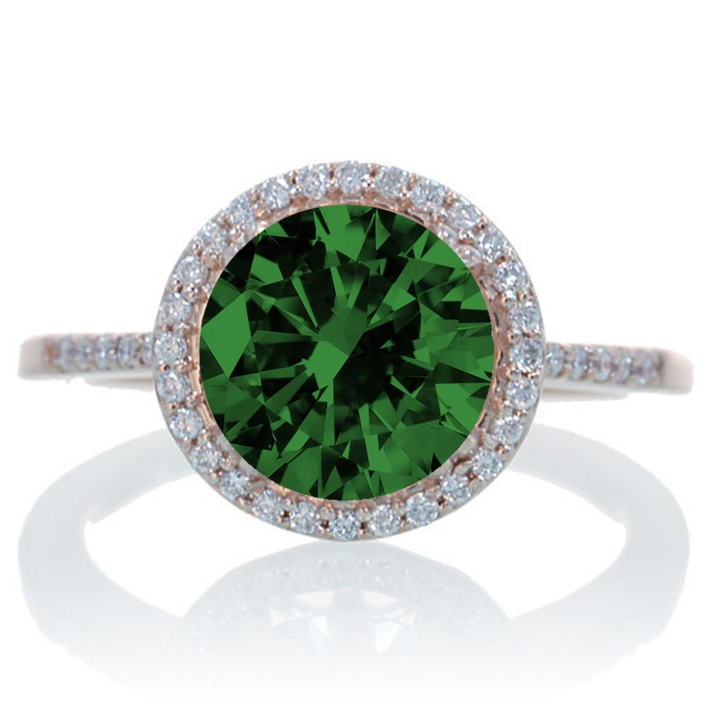 2 5 carat emerald and halo classic engagement