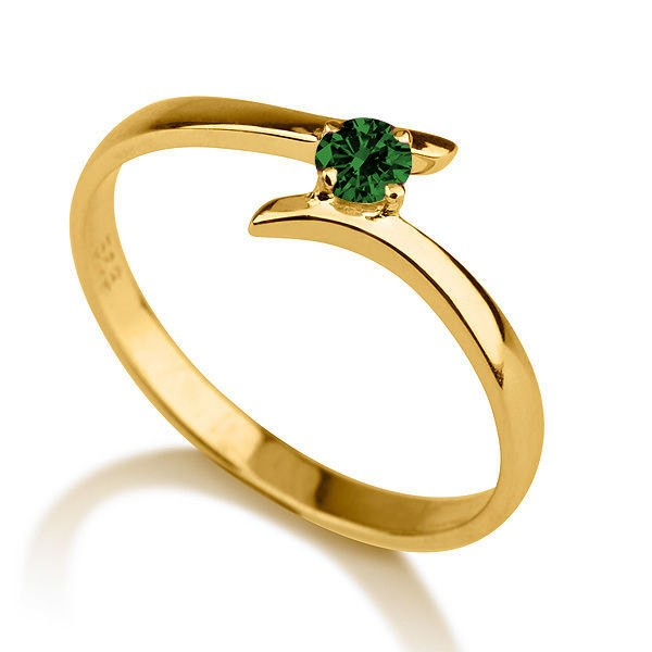 50 carat Round Cut Round Solitaire Engagement Ring in 10k Yellow Gold Jeen