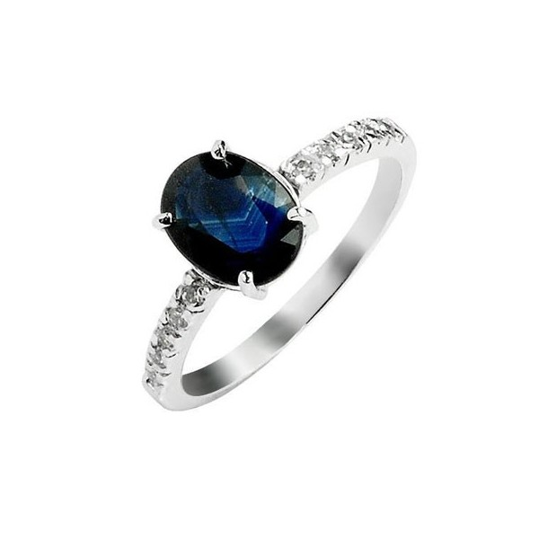 1 30 carat sapphire engagement ring on silver jeenjewels