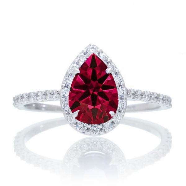 1 5 Carat Classic Pear Cut Ruby With Diamond Celebrity
