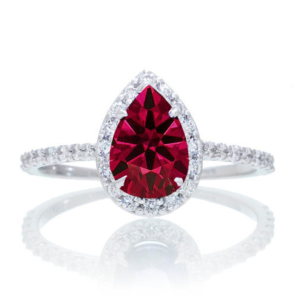 1 5 carat classic pear cut ruby with diamond celebrity. Black Bedroom Furniture Sets. Home Design Ideas