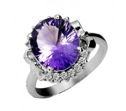 4.25 Carat Amethyst Engagement Ring on Silver