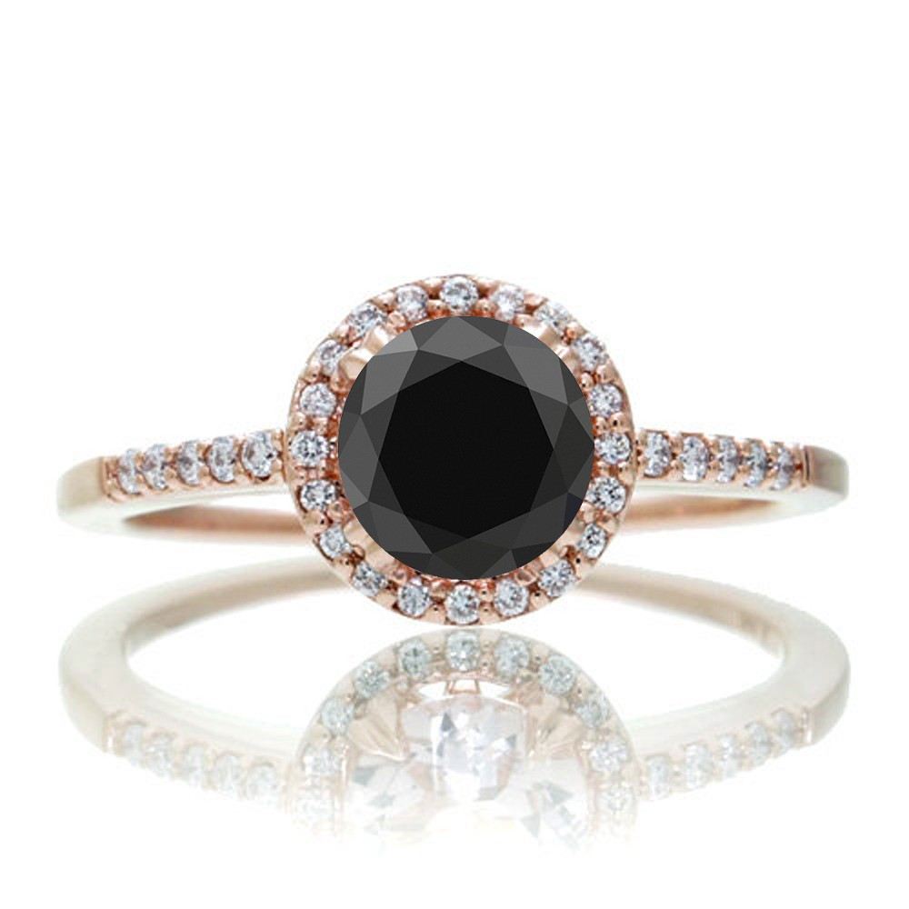 black diamond engagement ring on hand imageskavanahshabbat