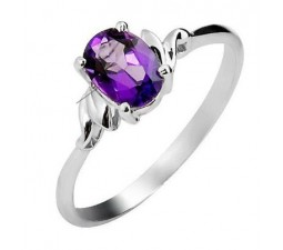 .75 Carat Amethyst Engagement Ring on Silver