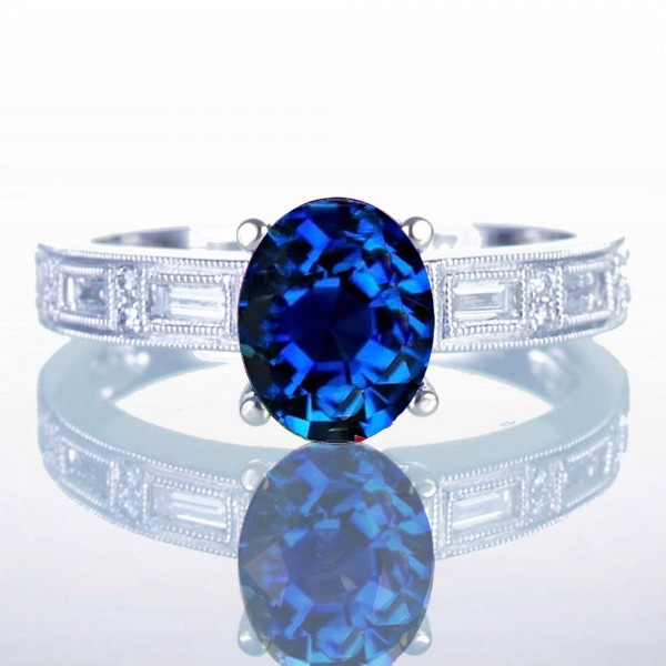 Stone Oval Diamond Ring