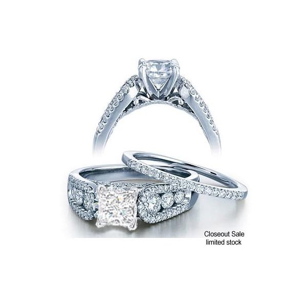 1 00 Carat GIA CERTIFIED Princess cut Perfect Bridal Set Ring on 10K White Go