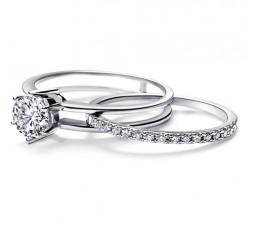 Unique 1/2 Carat Diamond Bridal Set on Sale