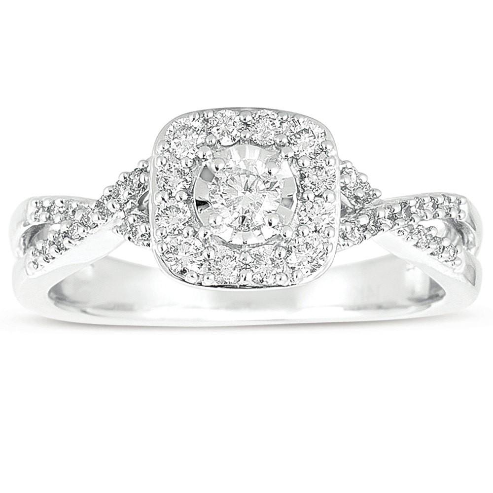 ... Infinity 1 Carat Round Diamond Wedding Ring Set In White Gold ...