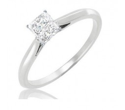 Closeout Sale: Classic Half Carat Solitaire Princess Diamond Engagement Ring