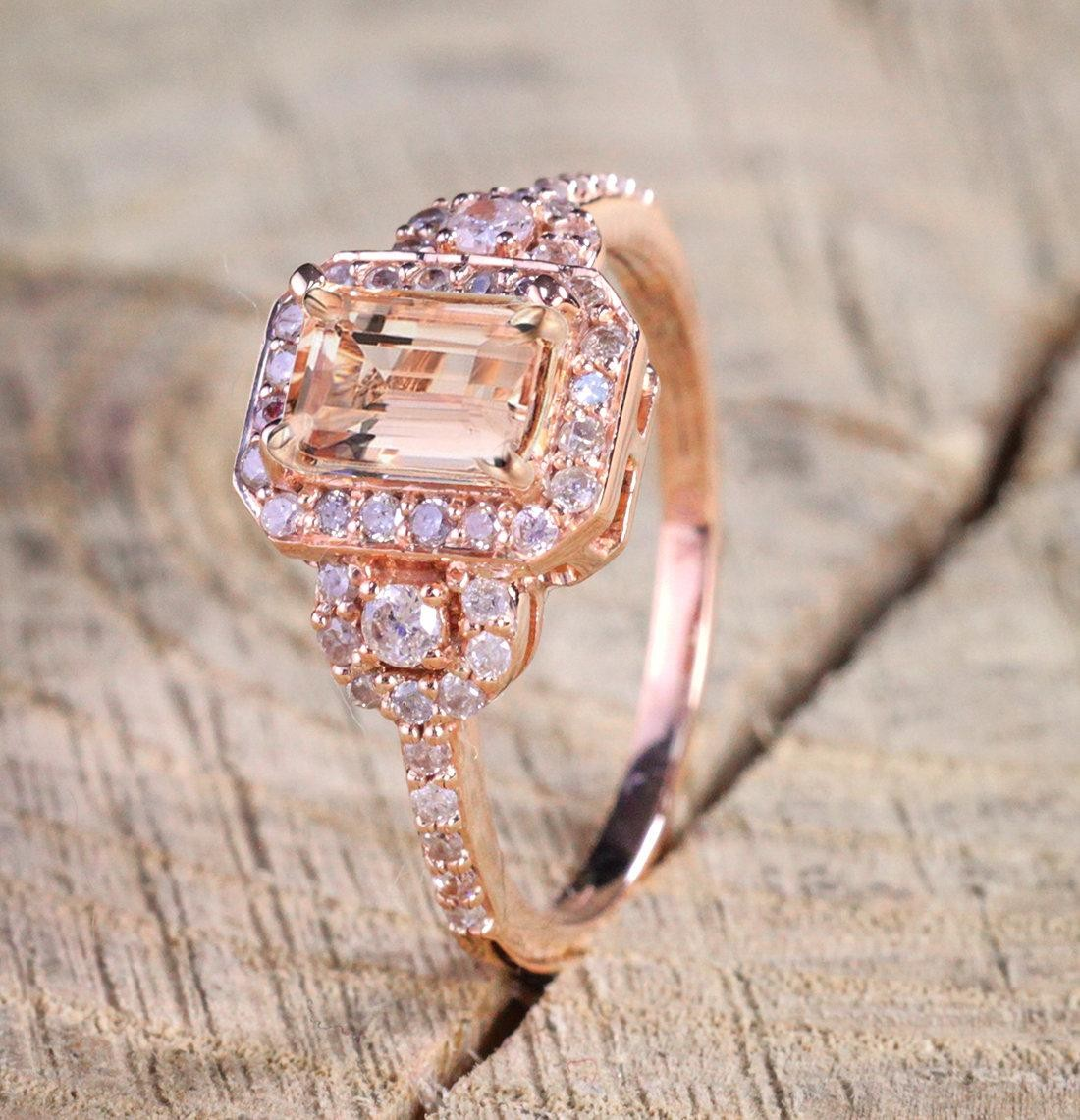 Limited Time Sale 1 25 Carat Peach Pink Morganite