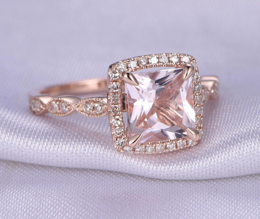 Engagement Rings Sale Rose Gold: Limited Time Sale Antique Vintage Design 1.25 Carat