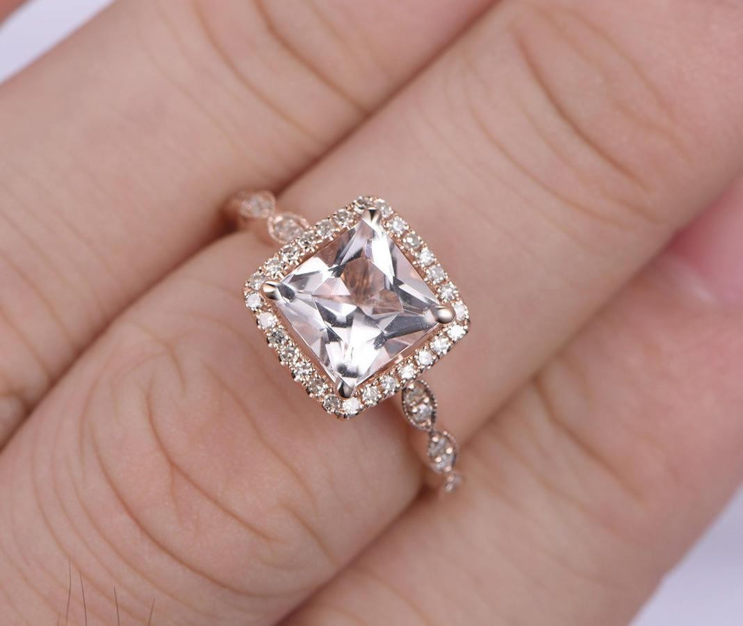 Limited Time Sale Antique Vintage Design 1.25 carat Morganite and ...