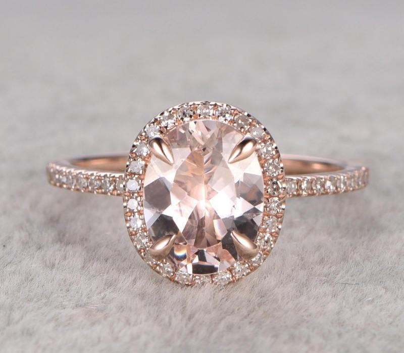 Limited Time Sale 1 25 Carat Peach Pink Morganite And