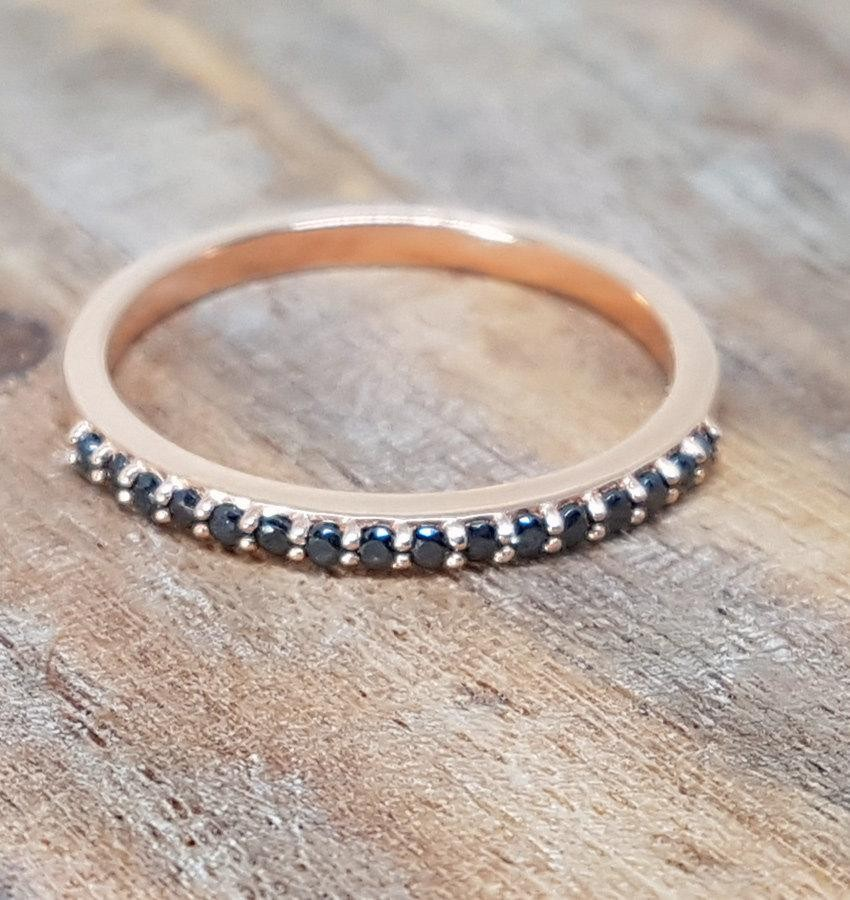 sale 2 carat morganite u0026 black diamond trio wedding ring bridal ring set in 10k rose gold one engagement ring u0026 2 wedding bands - Trio Wedding Ring Sets
