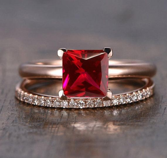 Limited Time Sale: 1.25 Carat Red Ruby (princess Cut Ruby