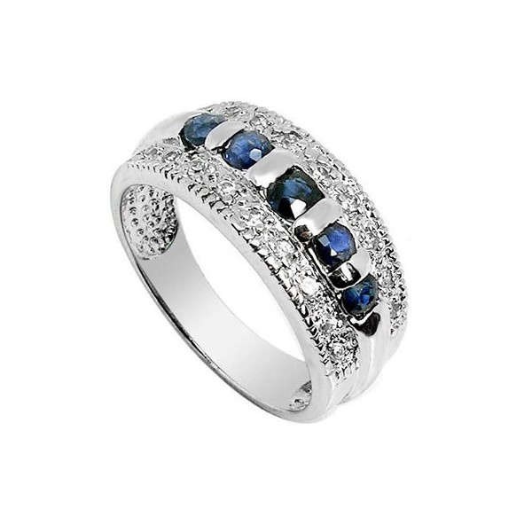 75 carat sapphire engagement ring on silver jeenjewels
