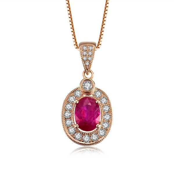 Exquisite ruby and diamond pendant on 18k rose gold jeenjewels exquisite ruby and diamond pendant on 18k rose gold aloadofball Images
