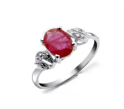 1.25 Carat Ruby Engagemnet Ring on Silver