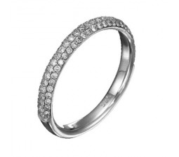 1 Carat Diamond Wedding Band on 10k White Gold