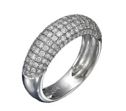 1.50 Carat Diamond Wedding Band on 10k White Gold