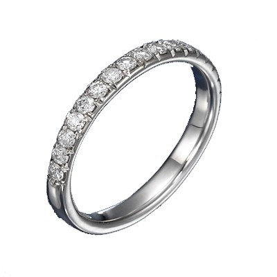 1 2 Carat Diamond Wedding Band On 10k White Gold JeenJewels