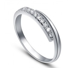 .25 Carat Diamond Wedding Band on 10k White Gold